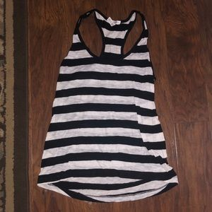 SMALL AMBIANCE APPAREL BLACK AND WHITE TANK TOP